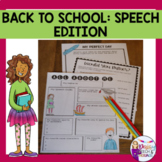 Back to School Activities for Speech Therapy | Conversation
