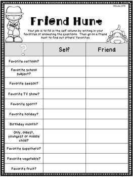Back to School Activities for Students to Get to Know Each Other