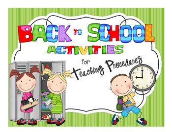 Back to School Activities for Teaching Procedures
