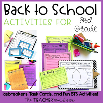 Back to School | Back to School Activities for 3rd Grade