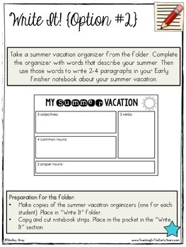 Back to School Activities {for the Early Finisher Board™}