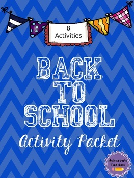 Back to School Activities for the First Days of School