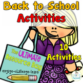 Back to School Ultimate Resource Bag for the First Week of School
