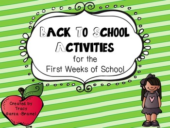 Back to School Activities for the First Weeks of School