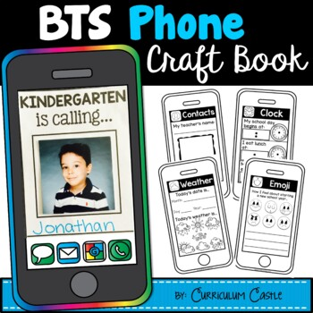 Back to School Activities: iPhone Smartphone Book Craft