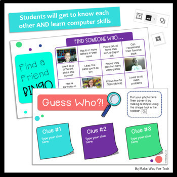 Back to School All About Me Activities in Google Drive