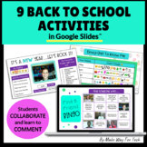 9 All About Me Google Slides   Back to School Get to Know You Digital Activities