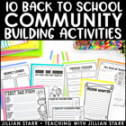 Back to School Activities to Build Community | Beginning of the Year Activities