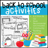 Back to School Activities with Book Recommendations