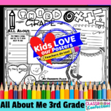 Back to School Activity 3rd Grade: All About Me Poster for 3rd Graders