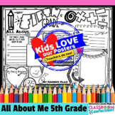 Back to School Activity 5th Grade: All About Me Poster for 5th Graders