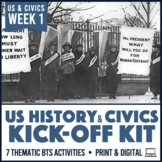 Back to School Activity Pack for US History Government Civics