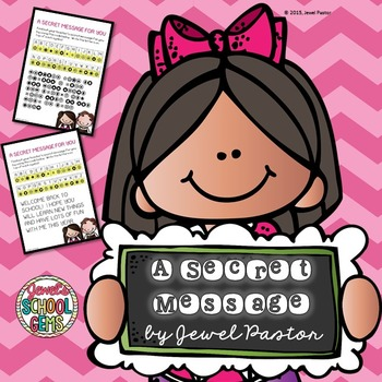 First Day of School Activities ❤ Back to School Secret Message