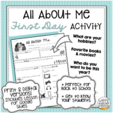 All About Me Student Survey: First Day Activity | Distance