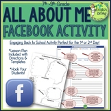Back to School Activity-All About Me Facebook Page