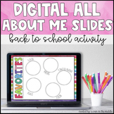 Back to School Activity- All About Me Slides (Distance Learning)