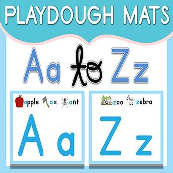 Back to School Activity Alphabet (Alphabet Playdough Mats)