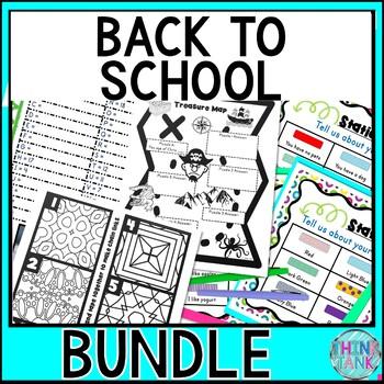 Back to School Activity BUNDLE - Escape Rooms, About Me, Brain Teasers, Doodles