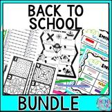 Back to School Activity BUNDLE - Escape Rooms, About Me, B