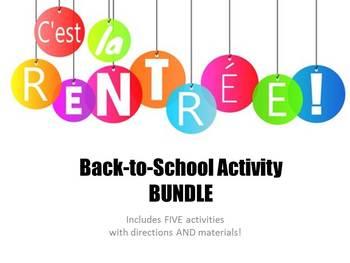 Back-to-School Activity BUNDLE - Five Fun French Activities!