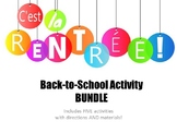 Back-to-School Activity BUNDLE - Five Fun French Activities!