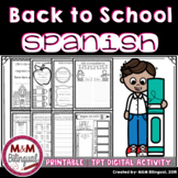 Back to School - Activity Book {SPANISH}