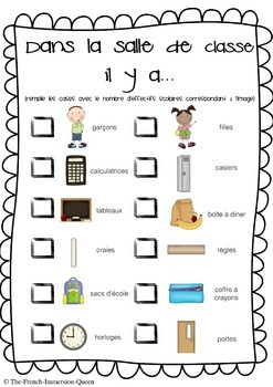 Back to School Activity Book! FRENCH