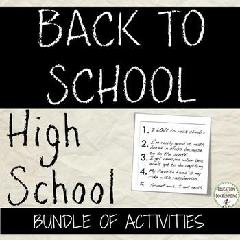 Ice breakers  4+ Activities for High School Bundle SAVE 50%+