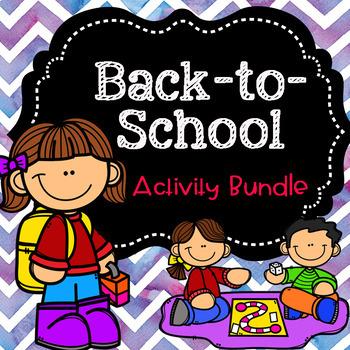 Back-to-School Activity Bundle