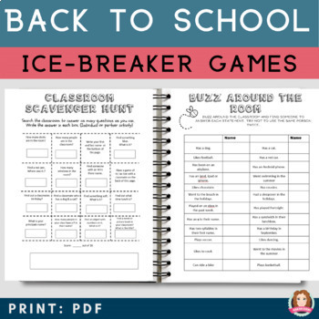 Back to School Bundle -35 Activities, Ice Breakers, All About Me, Grade 1-5