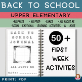 Back to School Activities Elementary   Ice Breakers   All About Me   SEL