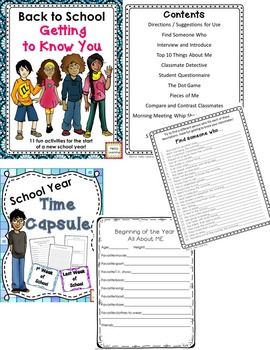 Back to School Activity Bundle- First Week Fun!