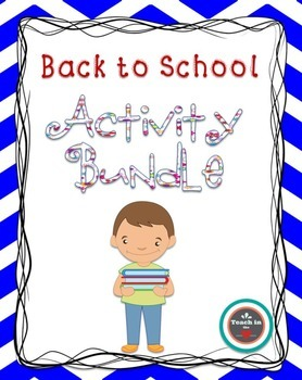 Back to School Activity Bundle for 2nd -4th grade