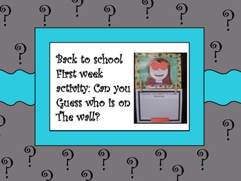 September activity - get to know your students! Great for bulletin boards!