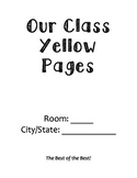 Back to School Activity: Class Yellow Pages