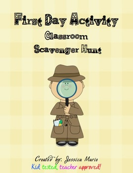 Back to School Activity - Classroom Scavenger Hunt