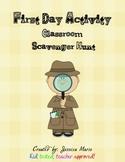 Back to School Activity - Classroom Scavenger Hunt
