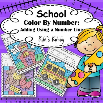Back to School Activity: Color By Number Addition