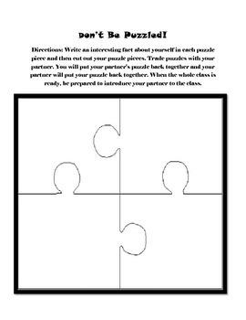 Back to School Activity ~ Community Builder Ice Breaker ~ Elementary Printable