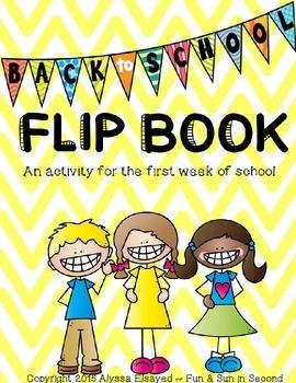 Back to School Activity - FLIP BOOK