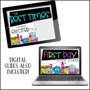 First Day Activities: Back to School First Day Book