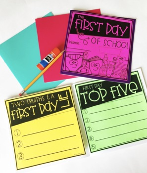 Distance Learning | Back to School Activities: First Day of School Book
