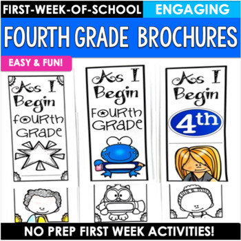 Back to School Activity Fourth Grade Brochures