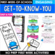 Back to School Activities Fourth Grade