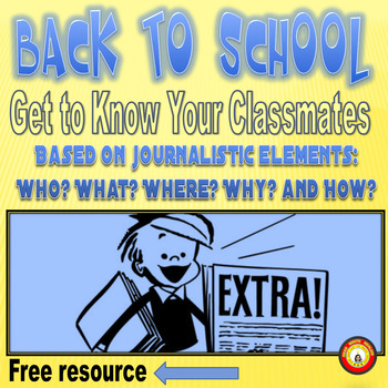 Back to School Activity--Get to Know Your Classmates