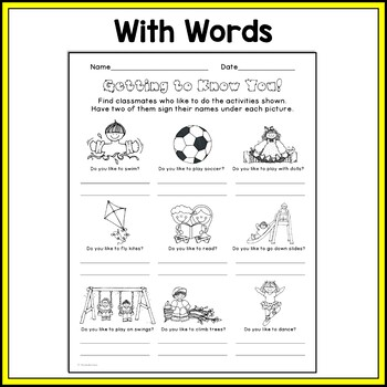 Back to School Activity: Getting to Know You {FREEBIE}