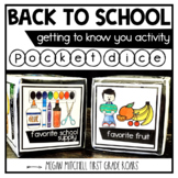 Back to School Activity Getting to Know you with Pocket Dice