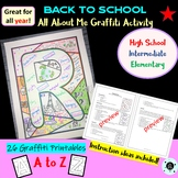 Back to School Activity - Graffiti All About Me - Coloring Page