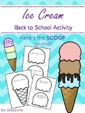 Back to School Activity: Here's the SCOOP on ME!