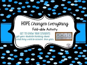 Back to School Activity: Hope to Get to Know You Fold-Able